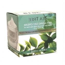 Tea Tree Anti-Aging Day Cream w Dead Sea Minerals + Vitamin