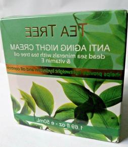 Tea Tree  Anti-aging Night Cream dead Sea minerals with tea