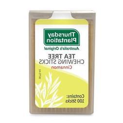 Tea Tree Chewing Sticks  Cinnamon Thursday Plantation 100 To