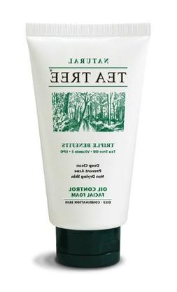TEA Tree Natural Deep Clean Oil Control Facial Foam Vitamin