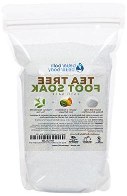 Tea Tree Foot Soak 32oz  Epsom Salt With Tea Tree & Eucalypt
