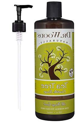 Dr. Woods Tea Tree Liquid Castile Soap with Pump, 32 Ounce