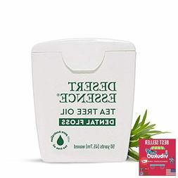 Desert Essence Tea Tree Oil Dental Floss - 50 Yards,Thick Fl