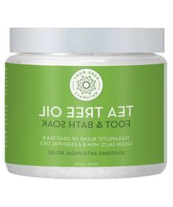 Pure Body Naturals Tea Tree Oil Epsom Salt Foot Soak, 20 Oun