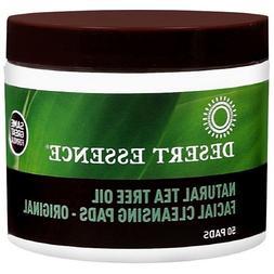 Desert Essence Tea Tree Oil Facial Cleansing Pads 50 ea
