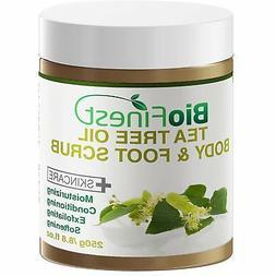 Biofinest Tea Tree Oil Body & Foot Scrub: with Dead Sea Salt