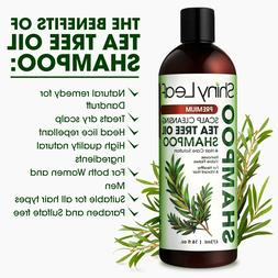 Shiny Leaf Tea Tree Oil Shampoo 16 oz  2 BOTTLES