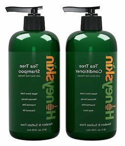 Tea Tree Oil Shampoo & Conditioner Set - with Manuka Honey,