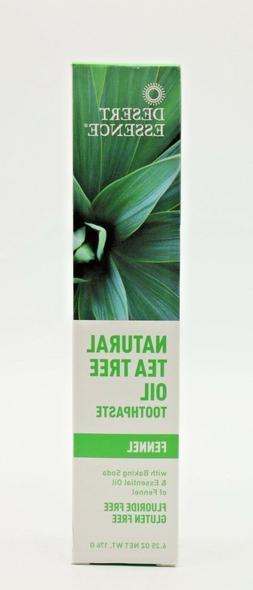 Desert Essence Natural Tea Tree Oil Toothpaste Fennel 6.4 oz