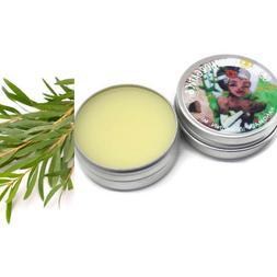 Tea Tree Oil Vegan Organic Salve   2 oz. Lip Balm   Diaper R