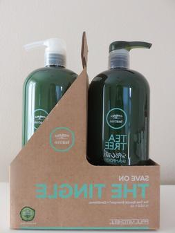 PAUL MITCHELL TEA TREE  Shampoo & Conditioner 33.8 oz LITER