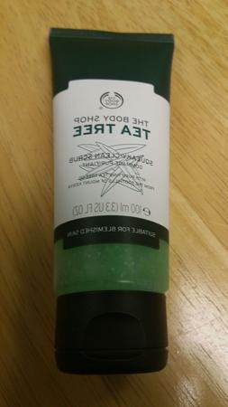 The Body Shop Tea Tree Squeaky Clean Scrub, Daily Facial Scr