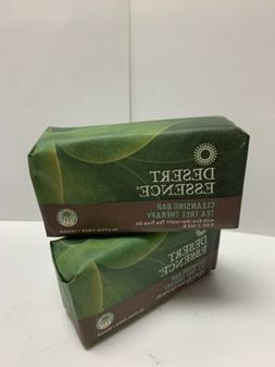 Desert Essence - Tea Tree Therapy Cleansing Bar Soap  2 BARS
