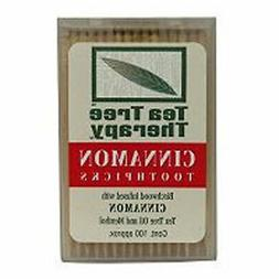 Tea Tree Therapy Toothpicks 100 ct Cinnamon