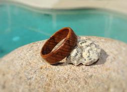 Tea Tree Wood Ring ~ Solid Wood ~ Men's or Women's ~ Handmad