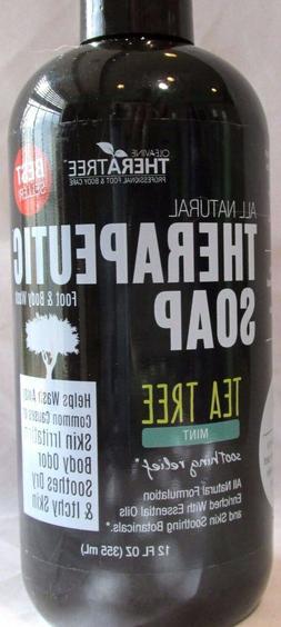 Oleavine Therapeutic Anti Fungal Soap Tea Tree Mint Body Was