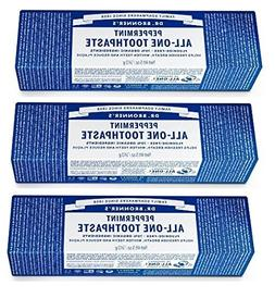 Toothpaste Peppermint Dr. Bronner's 5 oz Paste Pack of 3  by