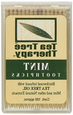 Tea Tree Therapy Tea Tree Toothpicks 100 Picks