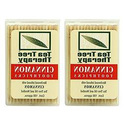 Tea Tree Therapy Toothpicks, Cinnamon - 100 Ea