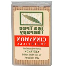 Tea Tree Therapy Toothpicks - Birchwood Infused with Cinnamo