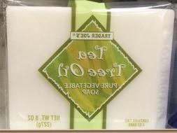 TRADER JOE'S Tea Tree Oil Pure Vegetable Soap 2 Bars , NET 8