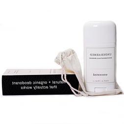 Natural Unscented Deodorant Stick  Aluminum Free Underarmed