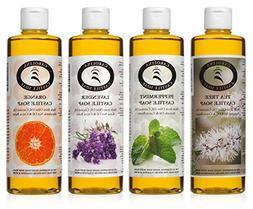 Castile Soap Variety Pack - 4-16 Oz Bottles - Carolina Casti