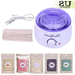 Wax Warmer Heater Pot Machine + 300g Waxing Beans + 10pcs Ha