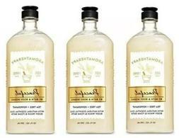 X 3~Bath & Body Works Aromatherapy Peaceful Tea Tree & Peppe